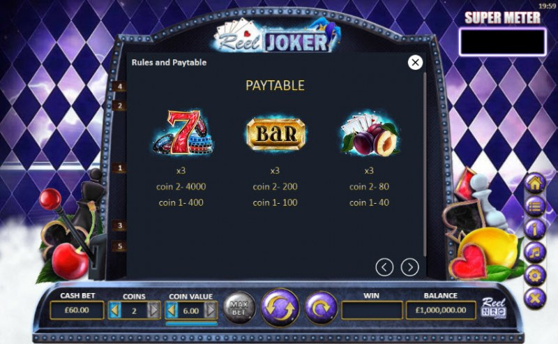 Reel Joker :: Paytable - High Value Symbols