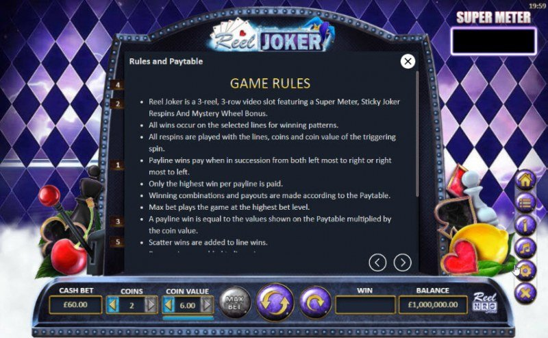 Reel Joker :: General Game Rules