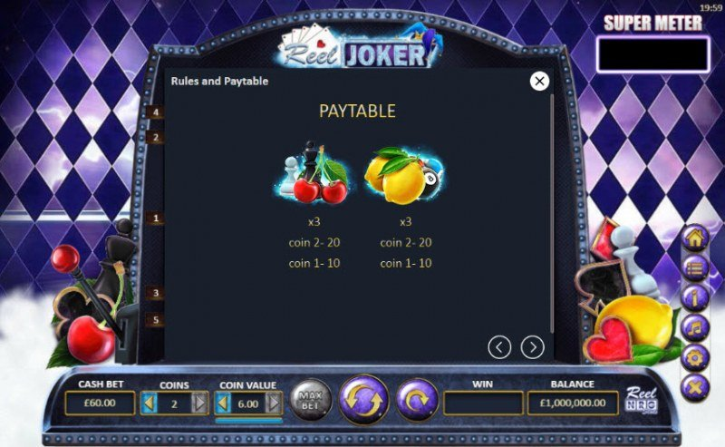 Reel Joker :: Paytable - Low Value Symbols