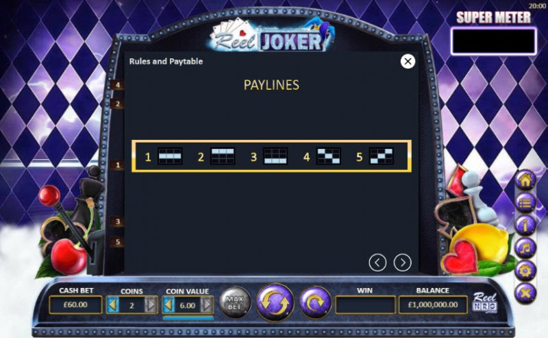 Reel Joker :: Paylines 1-5