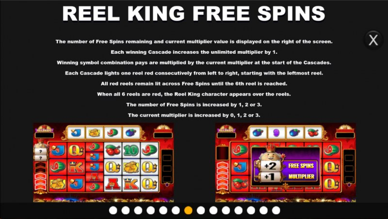 Reel King Megaways :: Free Spin Feature Rules