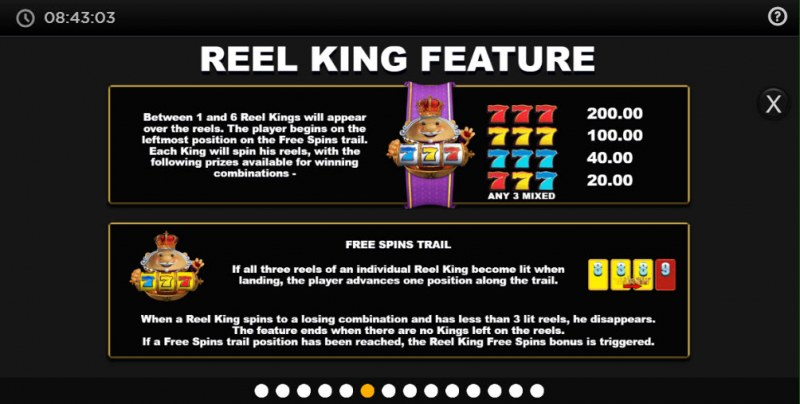 Reel King Megaways :: Feature Rules