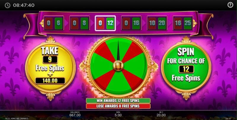 Reel King Megaways :: Free Spins Gamble