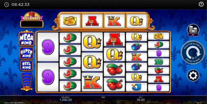 Reel King Megaways :: Main Game Board
