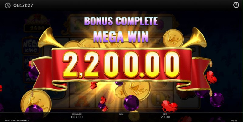 Reel King Megaways :: Total free spins payout