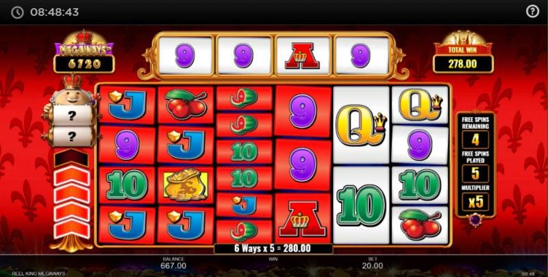 Reel King Megaways :: Multiple winning combinations