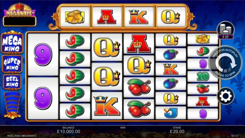 Reel King Megaways :: Base Game Screen