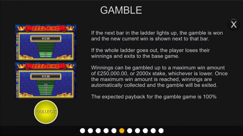 Reel King :: Gamble feature