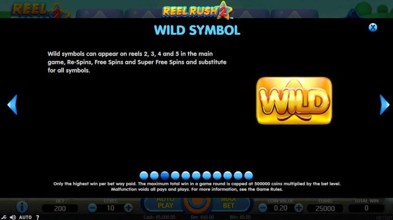 Reel Rush 2 :: Wild Symbols Rules