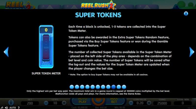 Reel Rush 2 :: Super Tokens