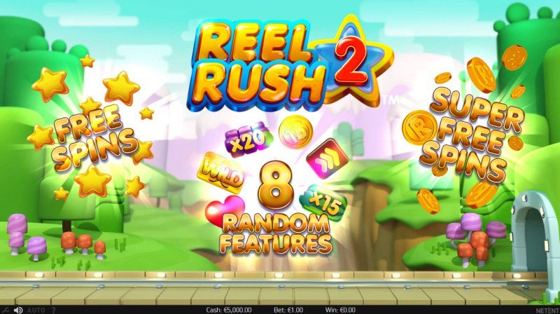 Play slots at Simba Games: Simba Games featuring the Video Slots Reel Rush 2 with a maximum payout of $100,000