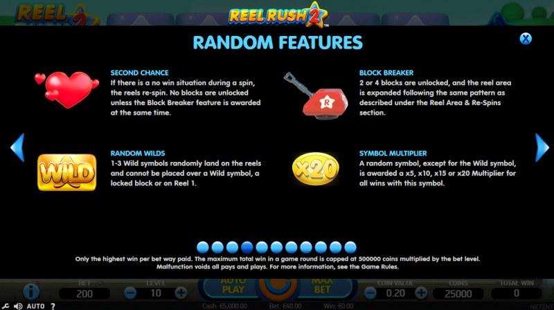 Reel Rush 2 :: Random Features