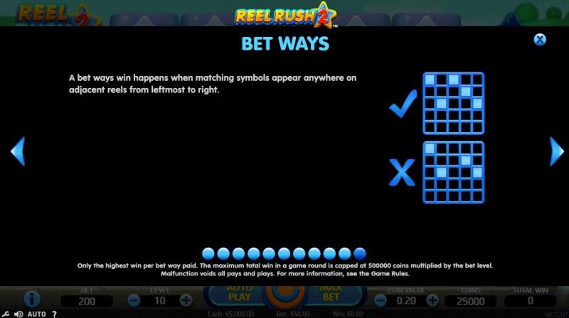 Reel Rush 2 :: Bet Ways