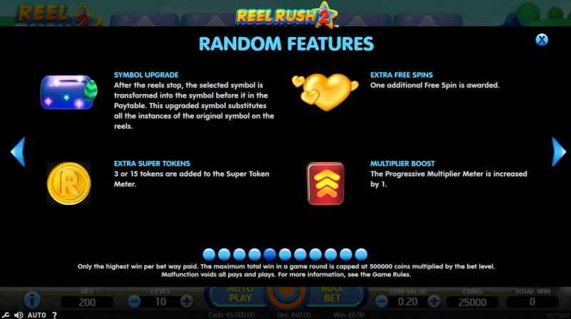 Play slots at Spinzilla: Spinzilla featuring the Video Slots Reel Rush 2 with a maximum payout of $100,000