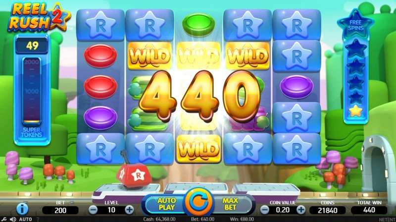 Reel Rush 2 :: Multiple winning combinations leads to a big win