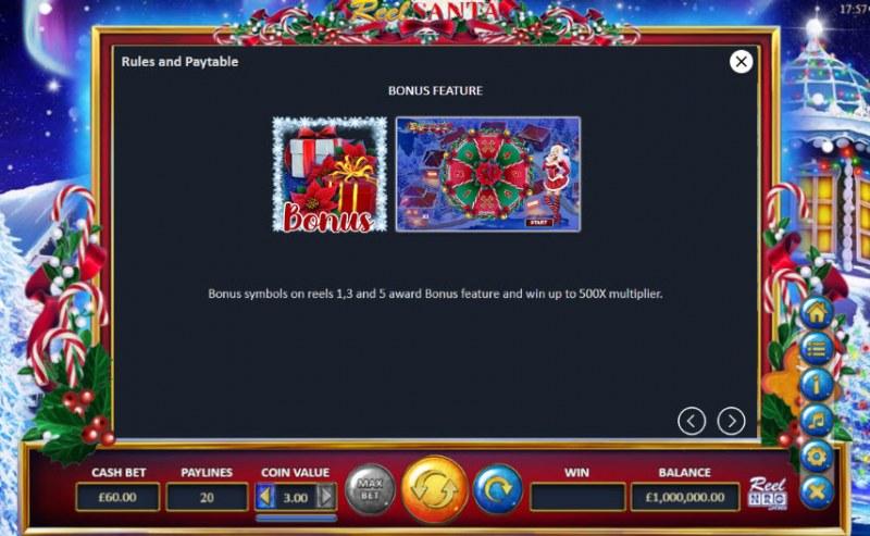 Reel Santa :: Bonus Game Rules