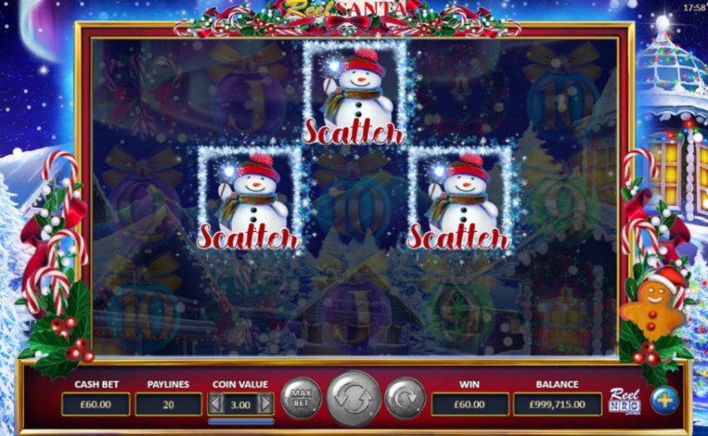 Reel Santa :: Scatter symbols triggers the free spins feature