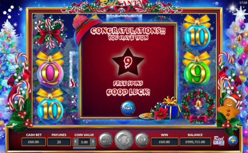 Reel Santa :: 9 Free Spins Awarded