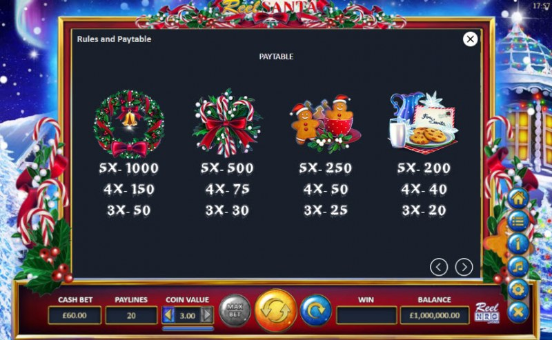 Reel Santa :: Paytable - High Value Symbols