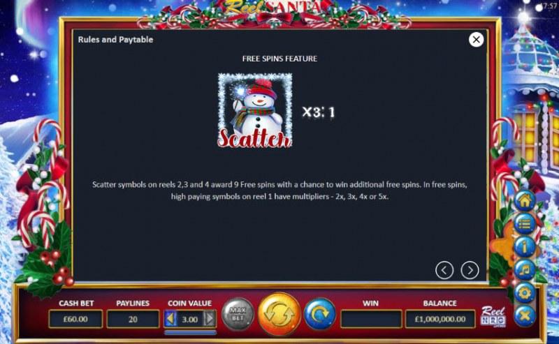 Reel Santa :: Free Spins Rules