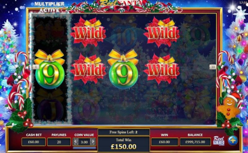 Reel Santa :: Multiple winning paylines