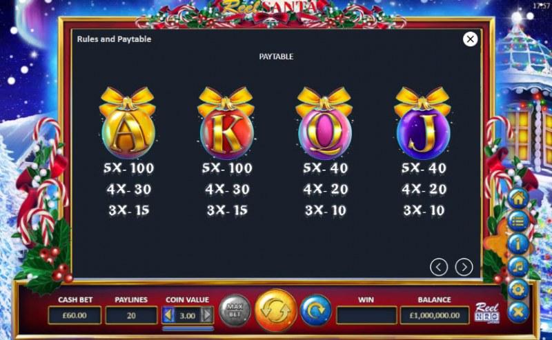 Reel Santa :: Paytable - Medium Value Symbols