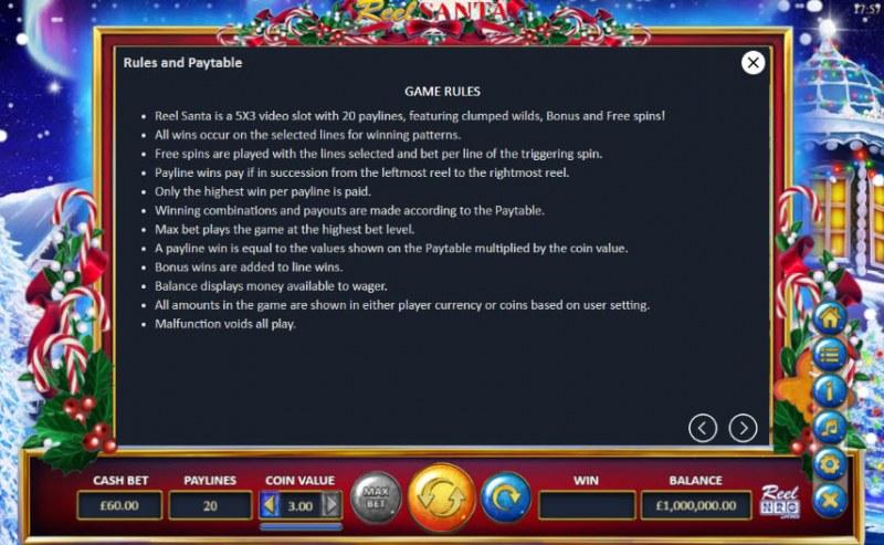 Reel Santa :: General Game Rules