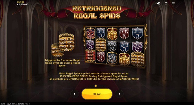 Regal Beasts :: Retriggered Regal Spins