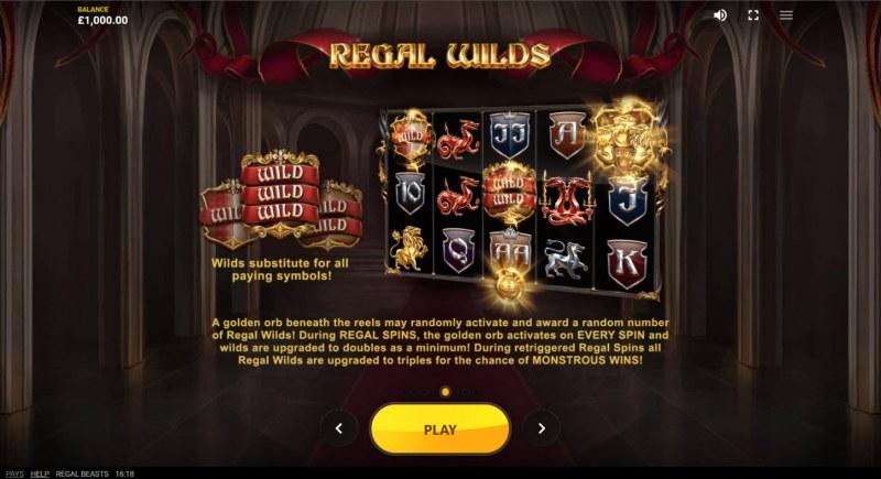 Regal Beasts :: Wild Symbol Rules