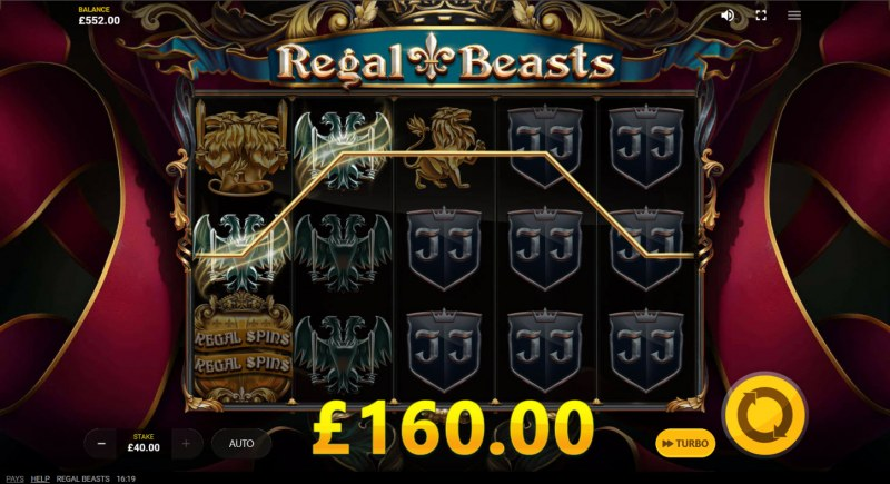 Regal Beasts :: Multiple winning paylines
