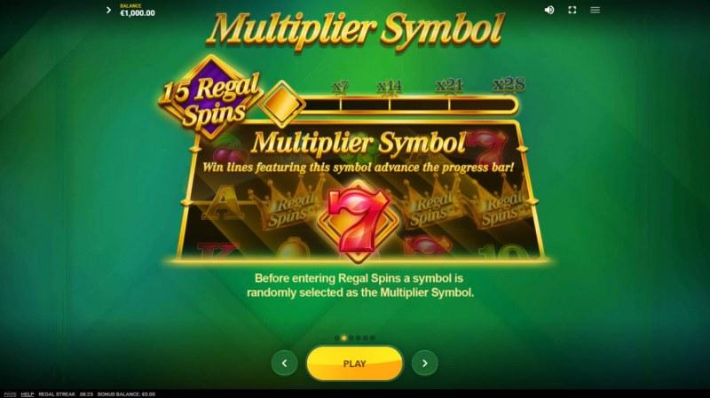 Regal Streak :: Multiplier Symbol