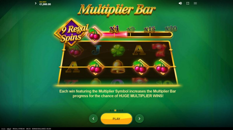 Regal Streak :: Multiplier Bar