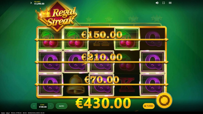 Regal Streak :: Multiple winning combinations