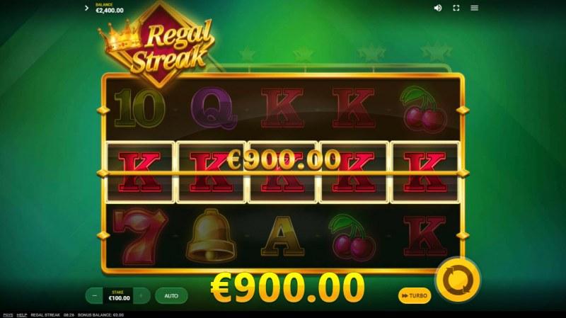 Regal Streak :: A five of a kind win
