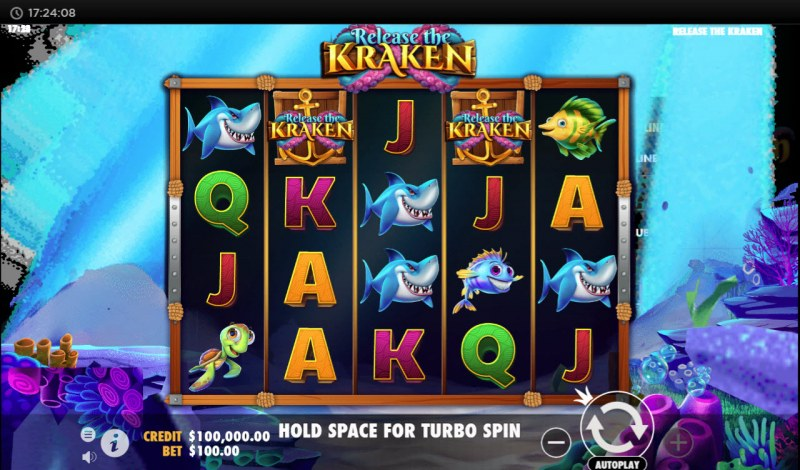 Play slots at Triple Aces: Triple Aces featuring the Video Slots Release the Kraken with a maximum payout of $100,000