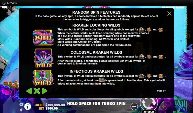 Release the Kraken :: Random Spin Features