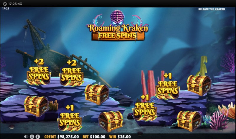 Release the Kraken :: Pick chests and win free spins