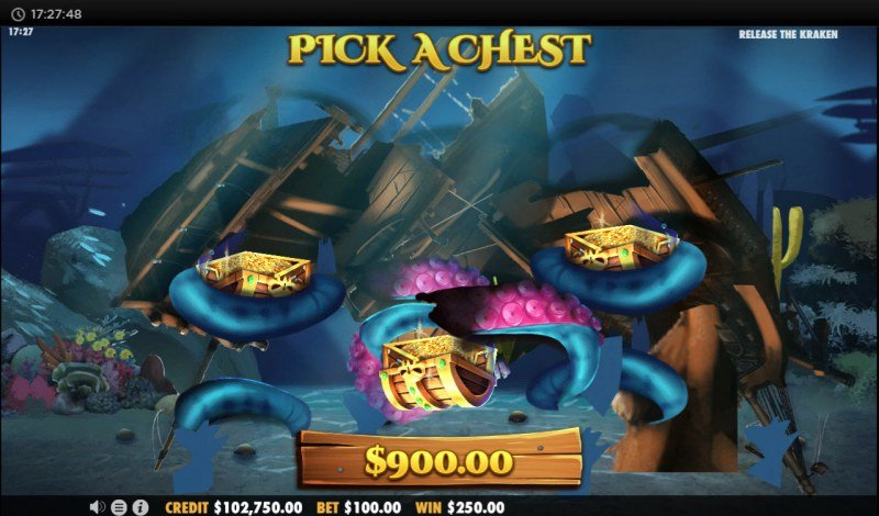 Release the Kraken :: Pick a chest and reveal a prize