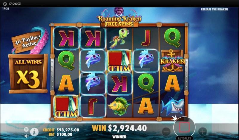 Release the Kraken :: Multiple winning paylines