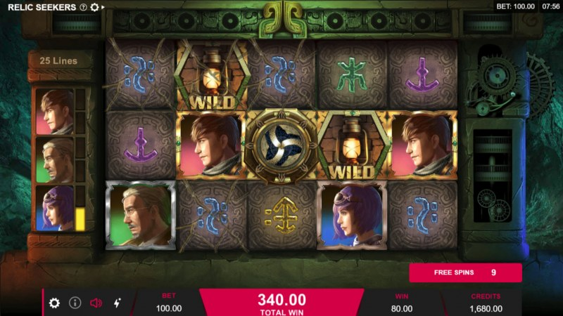 Relic Seekers :: Free Spins Game Board