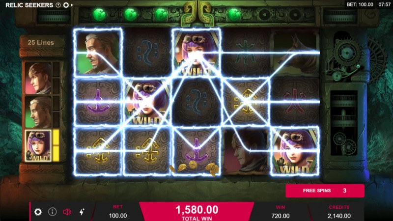 Play slots at CKcasino: CKcasino featuring the Video Slots Relic Seekers with a maximum payout of $110,000