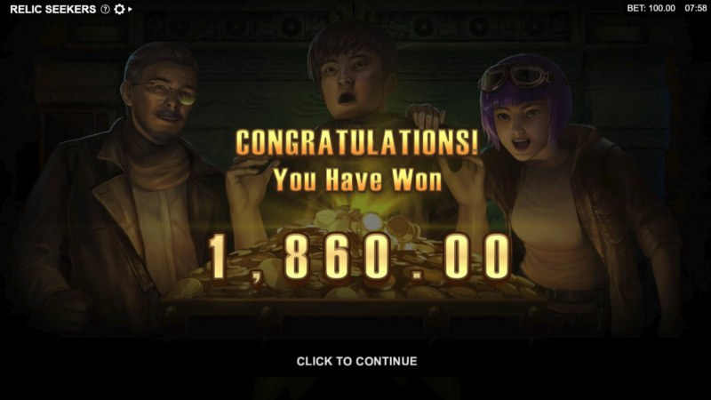 Relic Seekers :: Total free spins payout