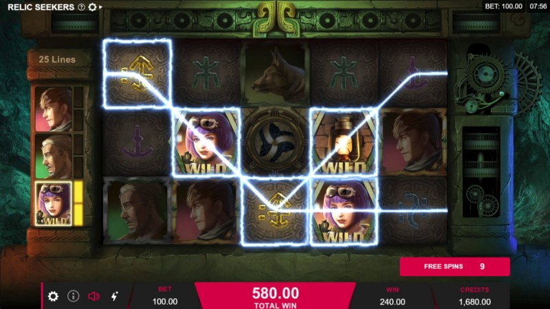 Play slots at Slots Magic: Slots Magic featuring the Video Slots Relic Seekers with a maximum payout of $110,000