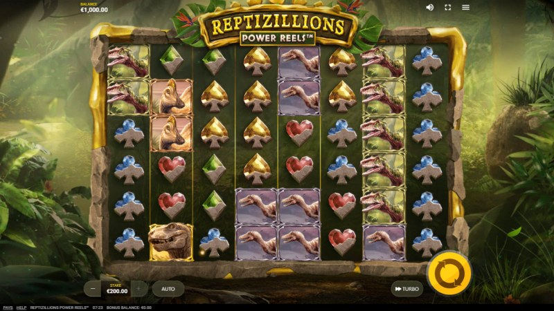 Reptizillions Power Reels :: Base Game Screen