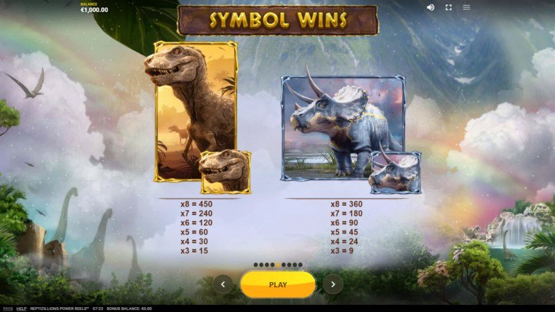 Reptizillions Power Reels :: Paytable - High Value Symbols