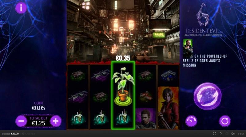 Resident Evil 6 :: Landing plant symbol activates reels for the next 3 spins
