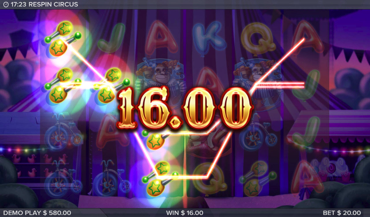 Respin Circus :: Multiple winning paylines