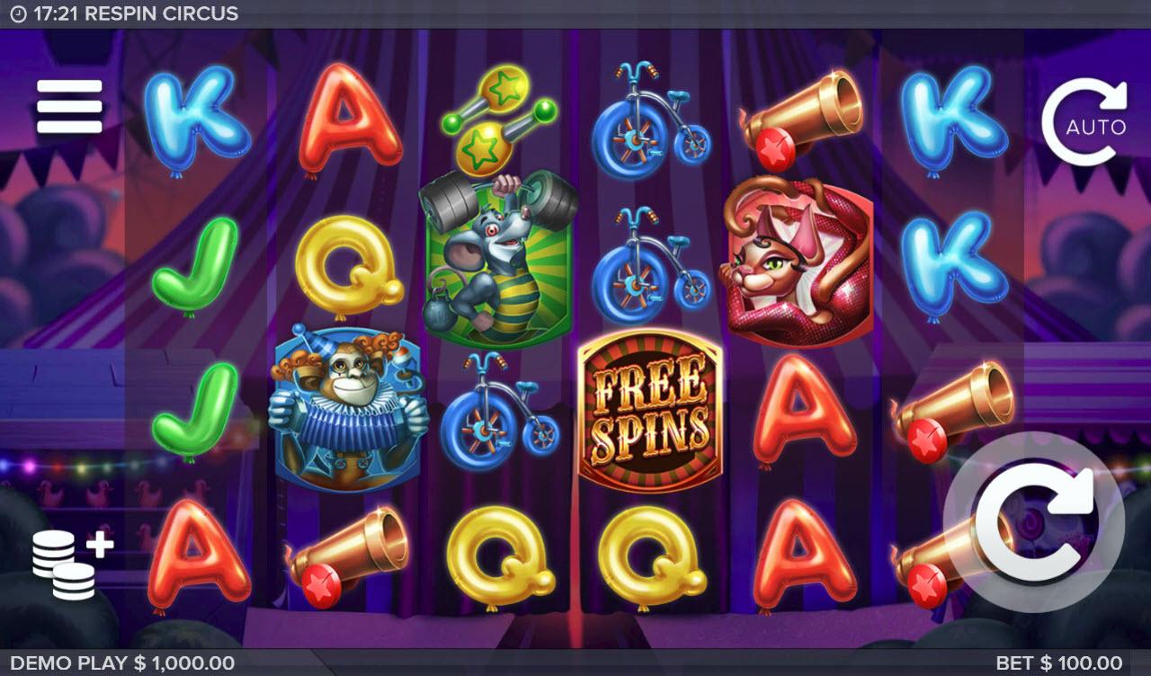 Respin Circus :: Main Game Board