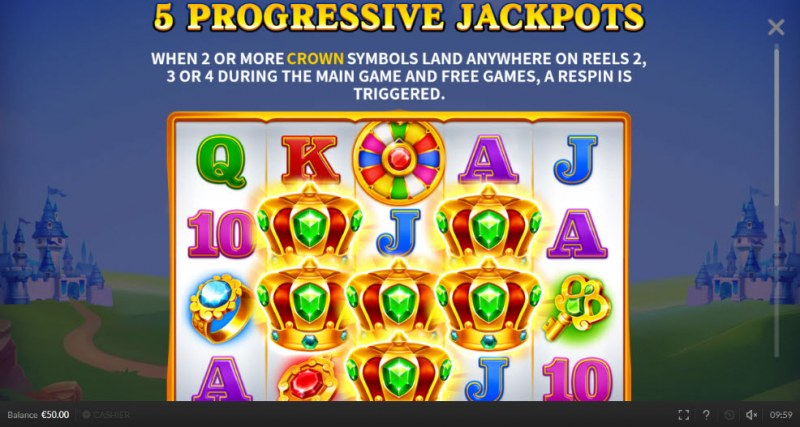 Respin King :: Progressive Jackpots