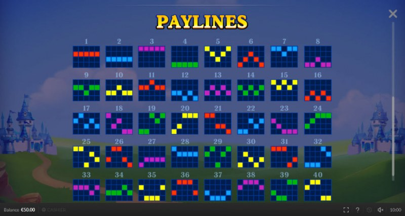 Respin King :: Paylines 1-40